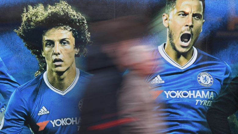 David Luiz dhe Eden Hazard  (Foto: Mike Hewitt/Getty Images/Guliver)