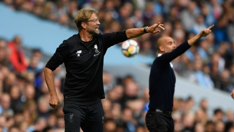 Jurgen Klopp dhe Pep Guardiola  (Photo by Stu Forster/Getty Images/Guliver)