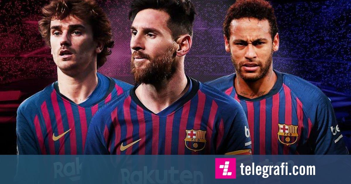 Formacionet e Barcelonës me Neymar dhe Griezmann në skuadër