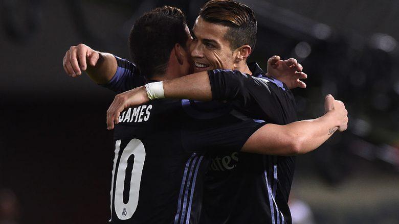 Cristiano Ronaldo dhe James Rodriguez (Foto: Matt Roberts/Getty Images/Guliver)