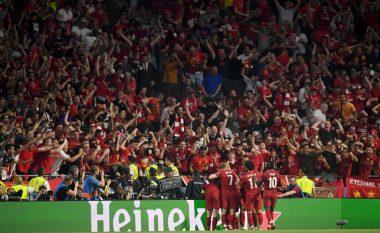 Liverpooli fiton trofeun e gjashtë në histori të Ligës së Kampionëve, bëhet klubi i tretë evropian me më shumë kupa në këtë garë
