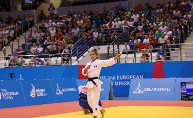 Historike: Majlinda Kelmendi stoliset me medaljen e parë të artë në Lojërat Evropiane pas triumfit ndaj ruses në Minsk 2019