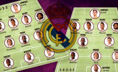 Pas prezantimit të Hazardit, këto janë dy formacionet e mundshme të Zidanet me belgun yll të skuadrës
