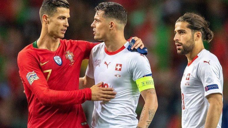 Ronaldo dhe Xhaka (Foto: Granit Xhaka/Instagram)
