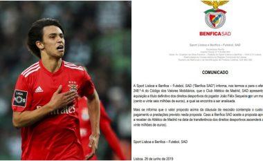 Benfica konfirmon ofertën prej 126 milionë eurosh për Joao Felixin