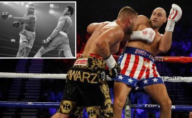 Fury dhuroi edhe spektakël në fitoren ndaj Schwarz, 'imitimi' që i bëri Muhammad Alis bëhet hit në rrjetet sociale