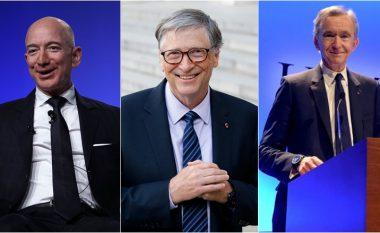 Bezos, Gates dhe Arnault me pasuri prej 100 miliardë dollarë