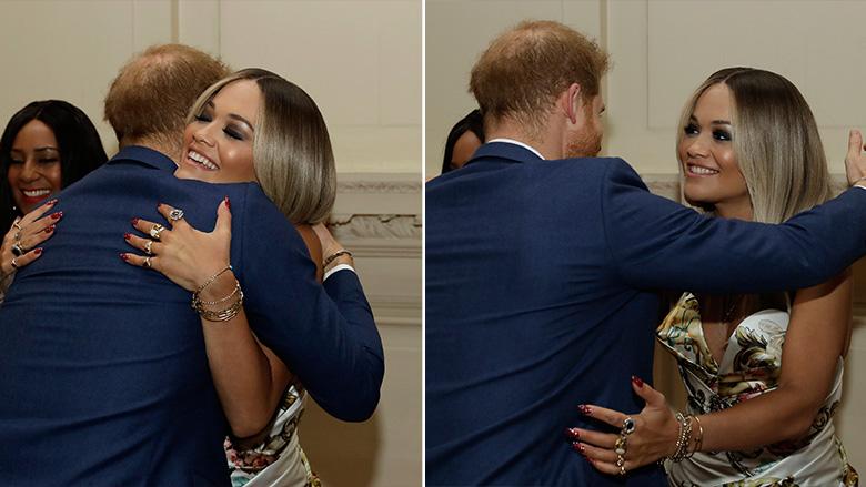Rita Ora gjatë takimit me Princin Harry (Foto: Matt Dunham – WPA Pool/Getty Images/Guliver)
