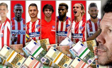 Nën epokën e Diego Simeones janë harxhuar 800 milionë euro nga Aletico Madridi për blerje – Joao Felix më i shtrenjti në histori