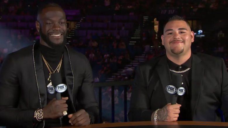 Deontay Wilder dhe Andy Ruiz Jr (Foto: Screenshot/YouTube/PBC ON FOX)