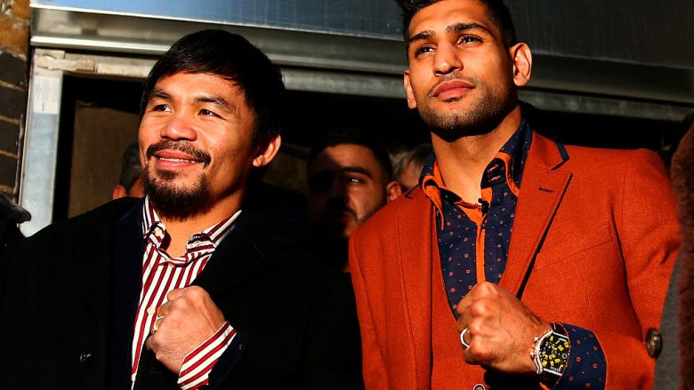 Manny Pacquiao dhe Amir Khan (Foto: Dan Istitene/Getty Images/Guliver)