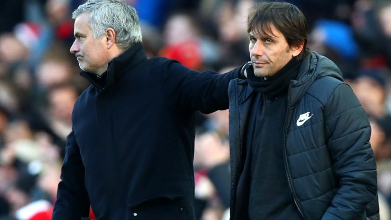 Jose Mourinho dhe Antonio Conte (Foto: Clive Brunskill/Getty Images/Guliver)