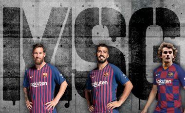 Messi, Suarez, Griezmann: MSG-ja e Barcelonës, treshja 100 golëshe