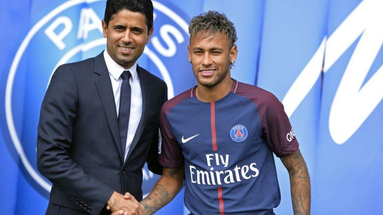 Neymar dhe Al-Khelaifi (Foto: Aurelien Meunier/Getty Images/Guliver)