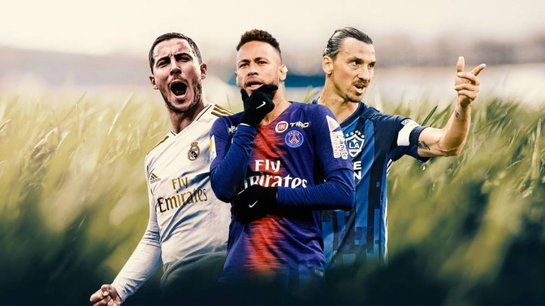 Hazard, Neymar, Ibrahimovic (Foto: AS.com)