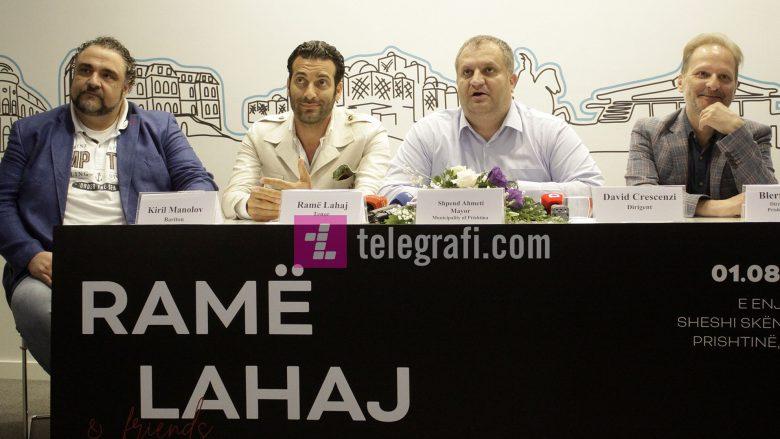 Ramë Lahaj në konferencë për media në Prishtinë (Foto: Ridvan Slivova/Telegrafi)