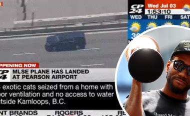 Skena filmi në Toronto, helikopteri ndjek hap pas hapi yllin e NBA-së: Leonard takohet me zyrtarët e Torontos
