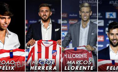 Atletico Madridi ka blerë tetë super-lojtarë për 255 milionë euro, por ende nuk ka shpenzuar të gjitha paratë nga shitjet e kësaj vere