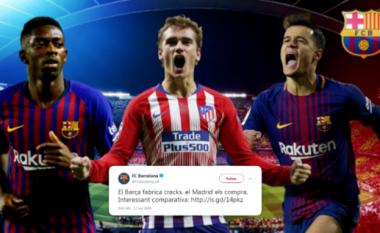 Barcelona e kritikonte Real Madridit më 2009 për blerjet e shtrenjta të lojtarëve, ndërsa sot tifozët ironizojnë me shpenzimet e tyre të mëdha