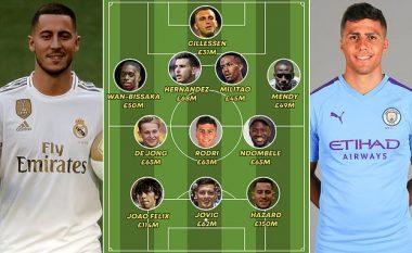 Formacioni me transferimet më të shtrenjta këtë afat kalimtar - Nga Hazard, te De Jong e Hernandez