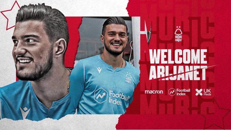 Arijanet Muriqi (Foto: Nottingham Forest/Twitter)
