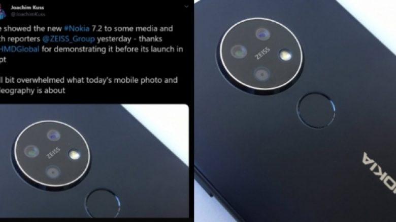 Konfirmohet dizajni i kamerës Nokia 7.2