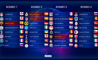 Kompletohen 32 klubet pjesëmarrëse të Ligës së Kampionëve - ndahen edhe vazot