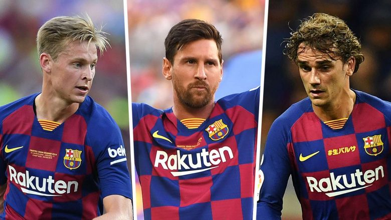 De Jong, Messi, Griezmann (Foto: Goal.com)