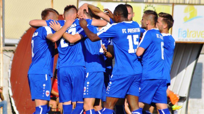 Festa e lojtarëve të Prishtinës pas golit (Foto: FC Prishtina)