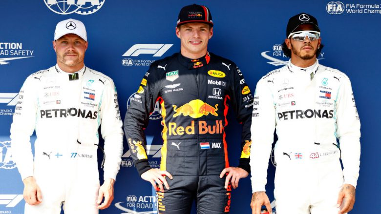 Max Verstappen, Valtteri Bottas dhe Lewis Hamilton (Foto: Will Taylor-Medhurst/Getty Images/Guliver)
