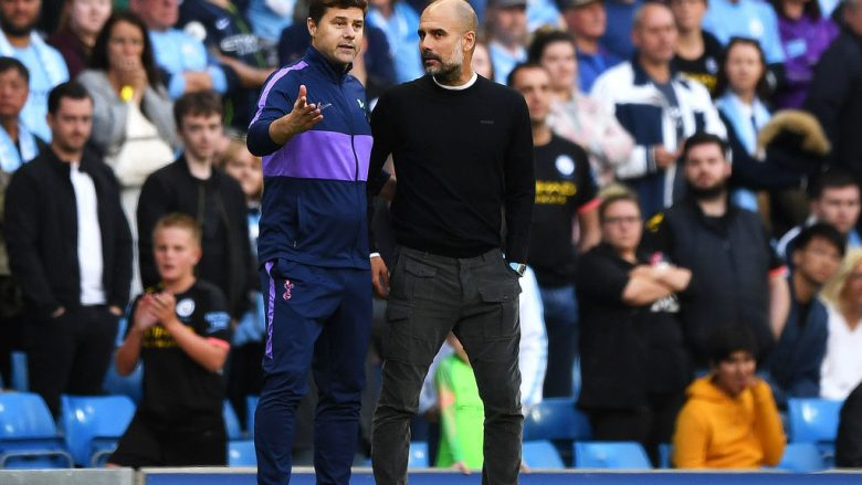 Mauricio Pochettino dhe Pep Guardiola (Foto: Shaun Botterill/Getty Images/Guliver)