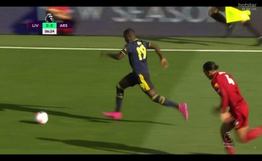 Transferimi i ri i Arsenalit, Pepe e driblon me mjeshtëri Van Dijkun - driblimi i parë i holandezit në Ligën Premier nga marsi i 2018