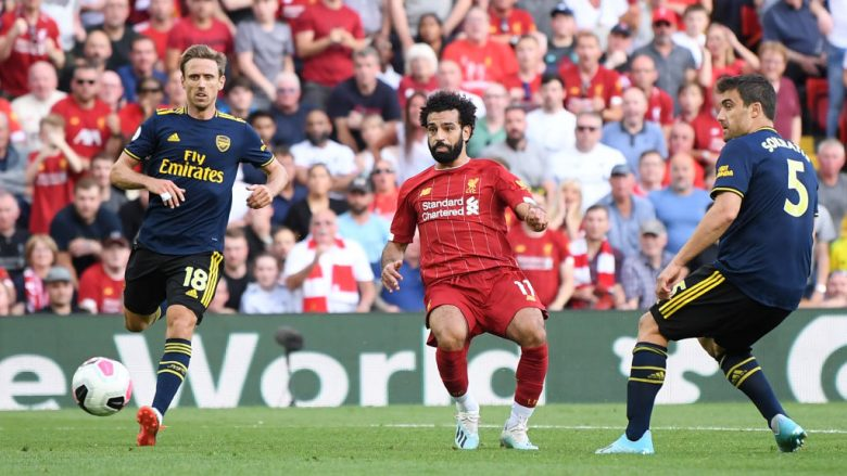 Mohamed Salah vs Arsenal (Foto: Laurence Griffiths/Getty Images/Guliver)
