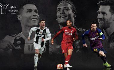 """UEFA zyrtarizon tre finalistët për çmimin """"Lojtari i Vitit"""""""