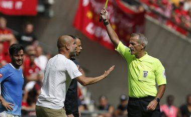 Zbatohen rregullat e reja në Superkupën e Anglisë, Guardiola bëhet trajneri i parë që ndëshkohet me kartonë të verdhë