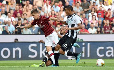 Milani e fillon sezonin e ri me humbje, mposhtet nga Udinese