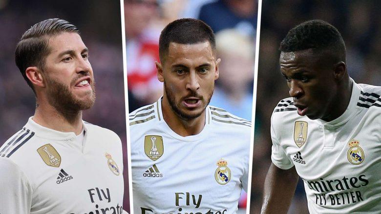 Ramos, Hazard, Vinicius (Foto: Goal.com)