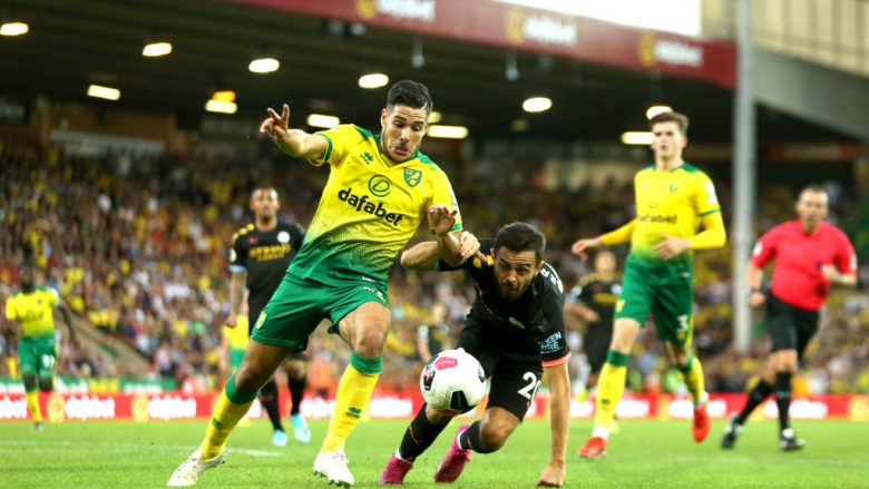 Emiliano Buendia në ndeshjen ndaj Norwich Cityt (Foto: Paul Harding/Getty Images/Guliver)