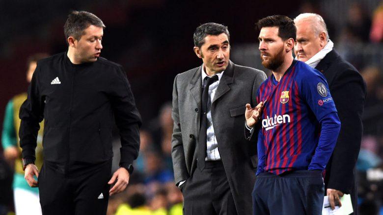 Lionel Messi  e Valverde.  (Photo by Alex Caparros/Getty Images)