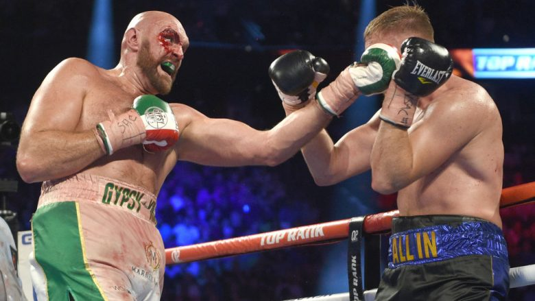 Tyson Fury - Otto Wallin.  (Photo by David Becker/Getty Images)