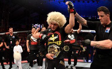 Khabib Nurmagomedov mposht Poirierin dhe mbron titullin në UFC