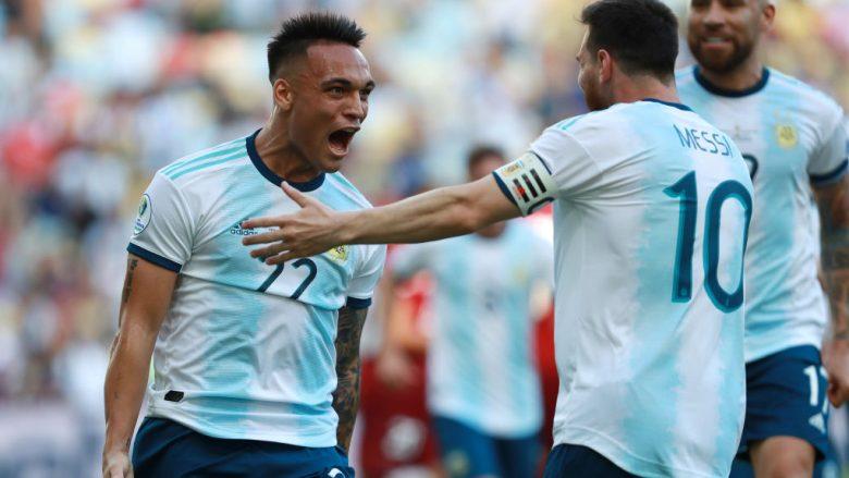 Lautaro Martinez - Lionel Messi (Foto: Bruna Prado/Getty Images/Guliver)