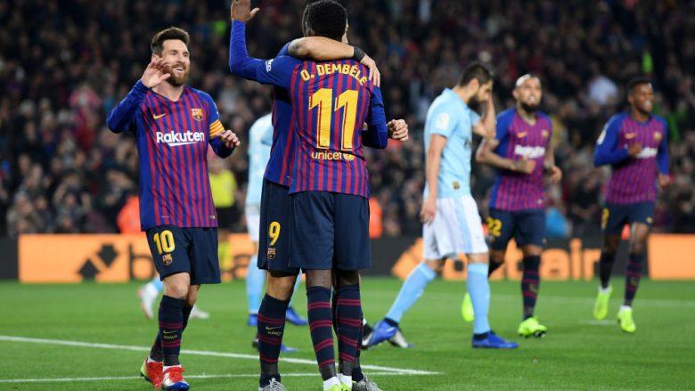 Lionel Messi dhe Ousmane Dembele (Foto: Alex Caparros/Getty Images/Guliver)