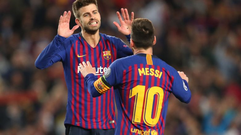 Gerard Pique dhe Lionel Messi(Foto: Catherine Ivill/Getty Images/Guliver)