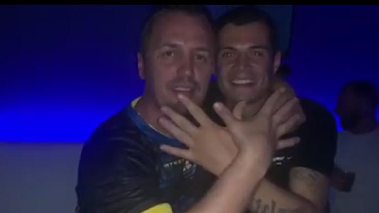 Blero dhe Granit Xhaka të lumtur edhe pas humbjes (Foto: Instagram)