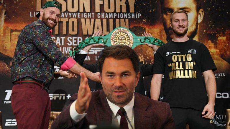 Tyson Fury, Eddie Hearn, Otto Wallin (Fotomontazh: Getty Images/Guliver)