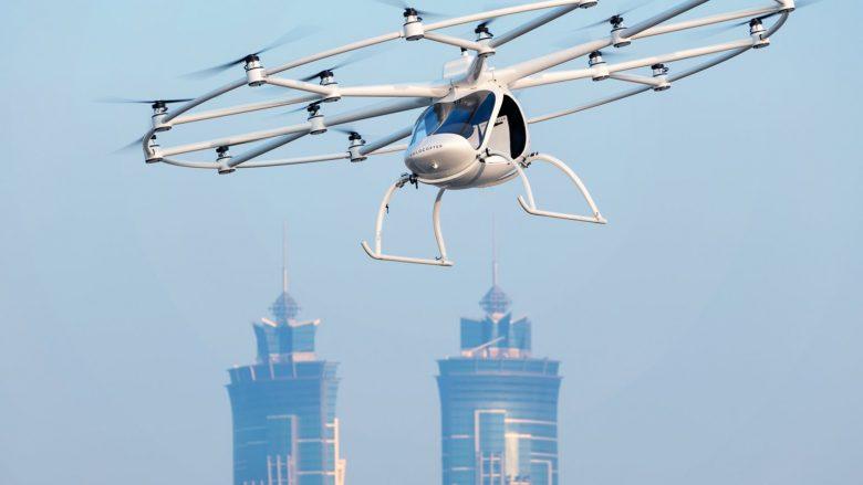 """Volocopter e ka krijuar taksin autonom fluturues që mund të """"rezervohet"""" me telefon të zgjuar"""