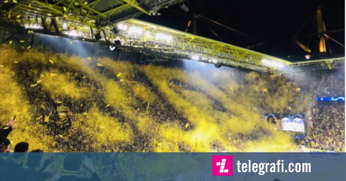 Koreografia brilante e tifozëve të Dortmundit në ndeshjen ndaj Barcelonës