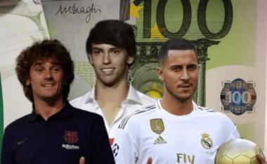 Dhjetë transferimet më të shtrenjta të këtij afati kalimtar veror - nga Felix deri te Rodrigo