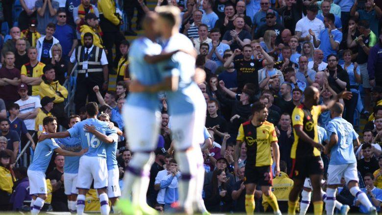 City i pandalshëm, i shënon pesë gola për 18 minuta Watfordit